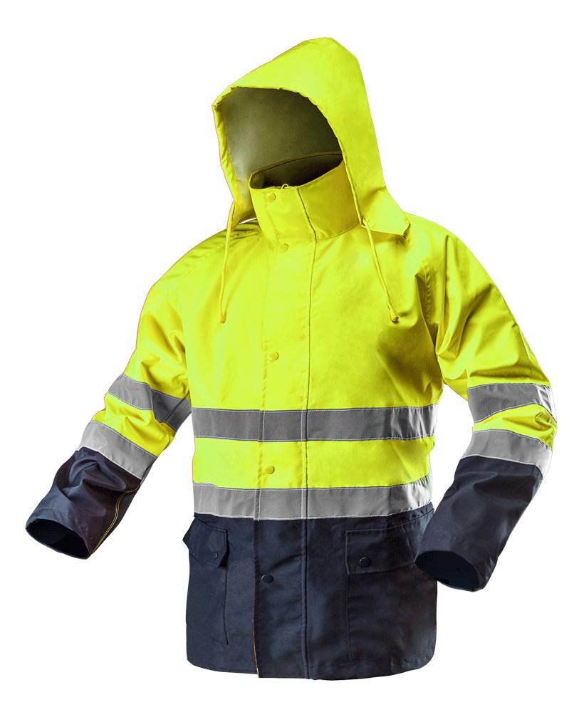 Сигнальная водостойкая рабочая куртка 81-720 , желтого цвета NEO TOOLS