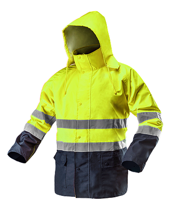 Сигнальная водостойкая рабочая куртка 81-720 , желтого цвета NEO TOOLS, фото 2