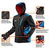 Куртка 81-558 сшита из высококачественного материала softshell, с капюшоном NEO TOOLS, фото 6
