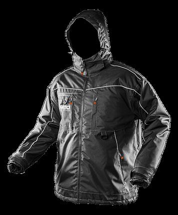 Рабочая зимняя куртка 81-570 c водостойкого материала NEO TOOLS, фото 2
