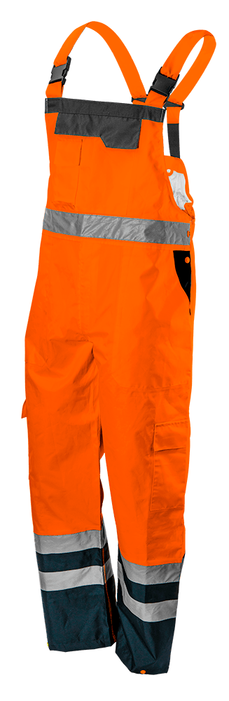 Полукомбинезон рабочий 81-776, сигнальный, водостойкий, оранжевого цвета  NEO TOOLS