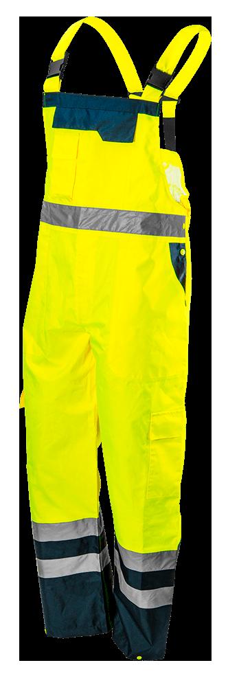 Полукомбинезон рабочий 81-775, сигнальный, водостойкий, желтого цвета NEO TOOLS