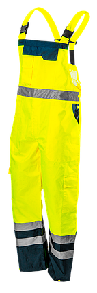 Полукомбинезон рабочий 81-775, сигнальный, водостойкий, желтого цвета NEO TOOLS, фото 2