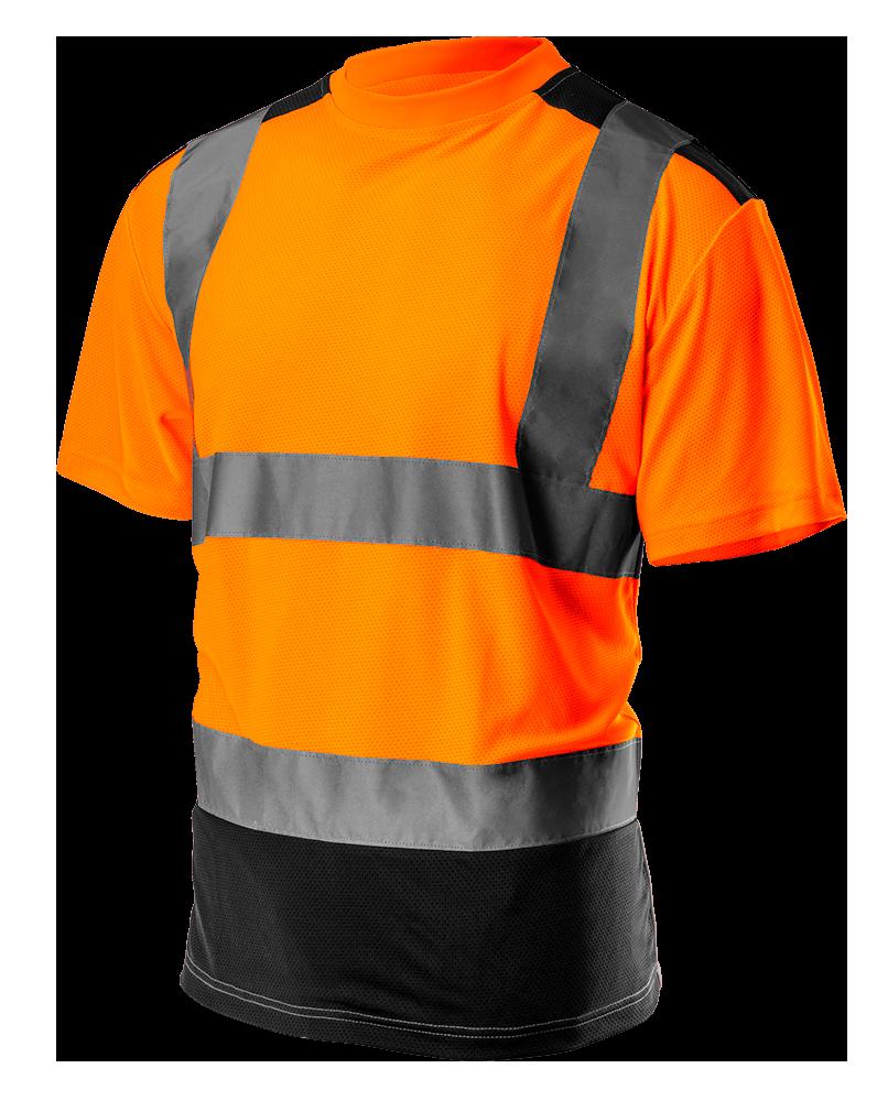 Футболка сигнальная 81-731 , темный низ, оранжевая NEO TOOLS