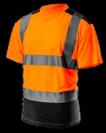 Футболка сигнальная 81-731 , темный низ, оранжевая NEO TOOLS, фото 2