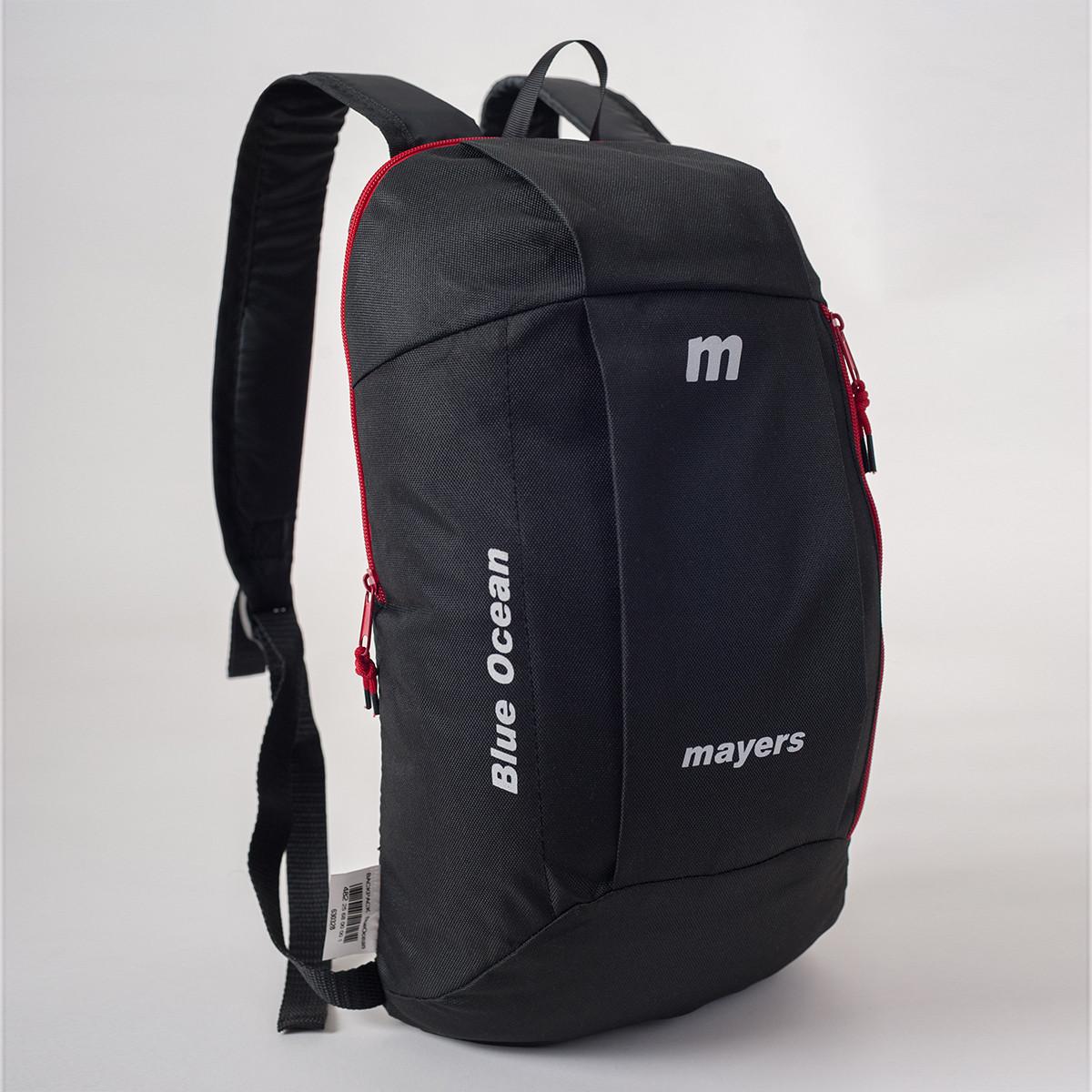 Спортивный рюкзак MAYERS 10L, черный / красная молния, фото 2