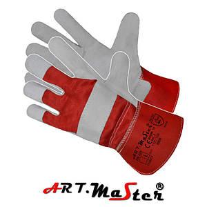 Защитные рукавицы RBR укрепленные высококачественной воловьей кожей. ARTMAS POLAND