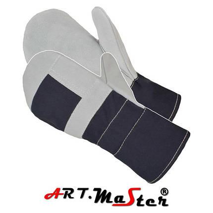 Рабочие рукавицы RD1, усиленные кожей ARTMAS POLAND, фото 2
