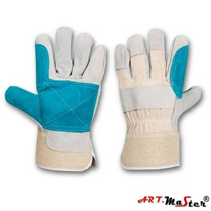 Защитные перчатки Rpower typ B усиленные яловой кожей ARTMAS POLAND, фото 2
