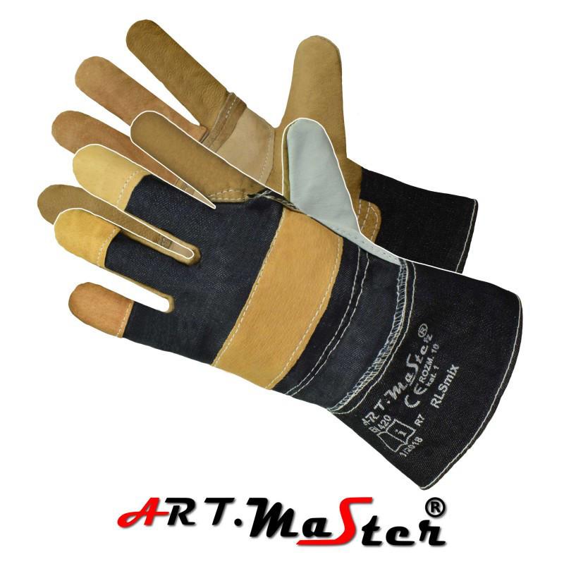 Перчатки RLSmix защитные усиленные  кожей  ARTMAS POLAND