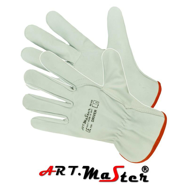 Перчатки DRIVER защитные, изготовленные из высококачественной козьей кожи. ARTMAS POLAND