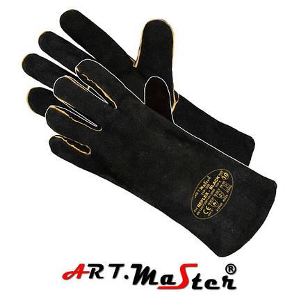 Защитные перчатки REFLEX-RED полностью изготовлены из яловой кожи ARTMAS - POLAND, фото 2
