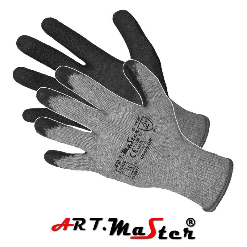 Перчатки RWgrip Grey/Black защитные покрытые латексом ARTMAS POLAND