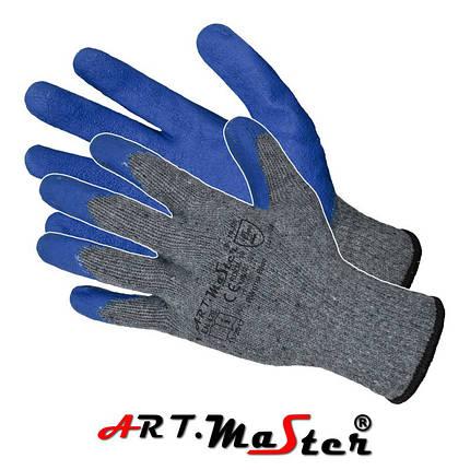 Перчатки RWgrip Blue защитные покрытые латексом ARTMAS POLAND, фото 2