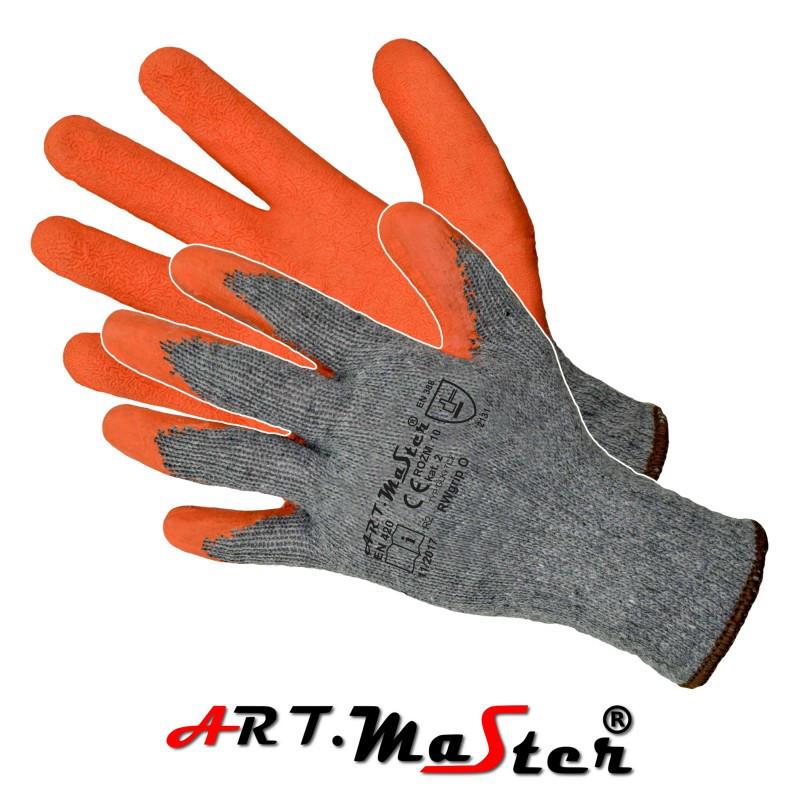 Перчатки RwGrip защитные покрытые латексом ARTMAS POLAND