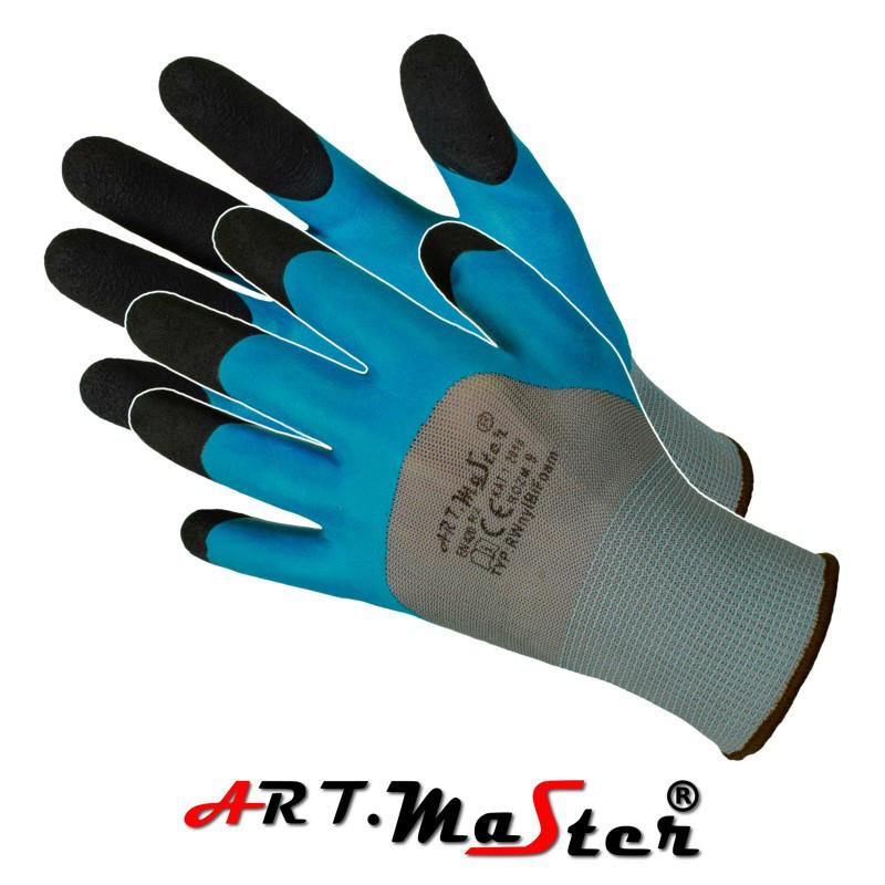Защитные перчатки RwnylBi Foam, выполненные из полиэстера и покрыты латексом ARTMAS POLAND