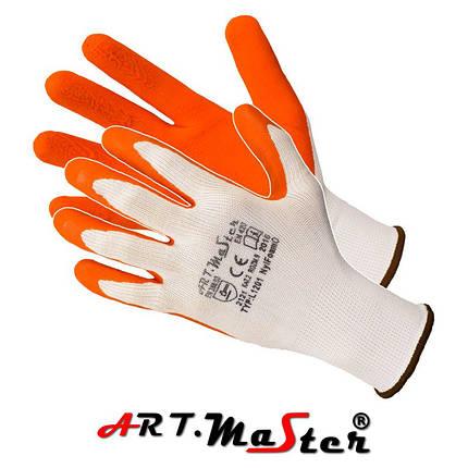 Перчатки NylFoam O защитные, изготовленные из полиэстера, покрытые латексом ARTMAS POLAND, фото 2