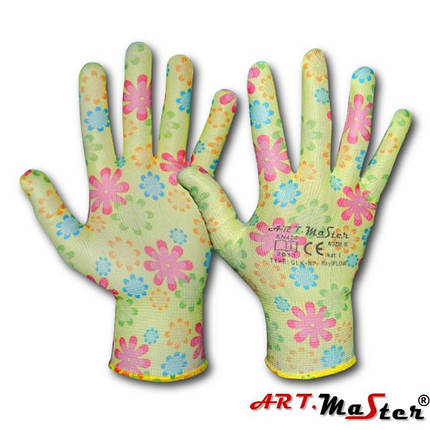 Садовые RnyFlow R M перчатки из нейлона ARTMAS POLAND, фото 2