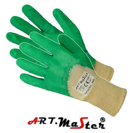 Защитные перчатки RGSe Green покрытые латексом зеленого цвета ARTMAS POLAND, фото 2