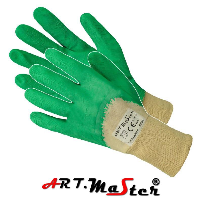 Защитные перчатки RGSe Green покрытые латексом зеленого цвета ARTMAS POLAND