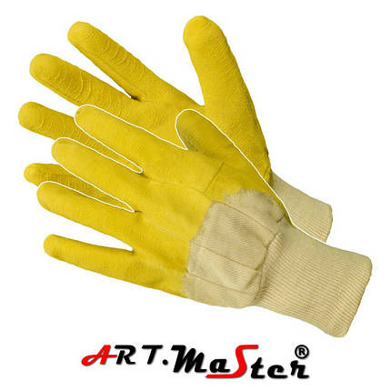Защитные перчатки RGS покрытые латексом  ARTMAS POLAND, фото 2