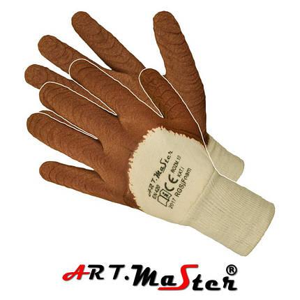 Защитные перчатки RGSj FOAM покрытые латексом внутри из тика ARTMAS POLAND, фото 2