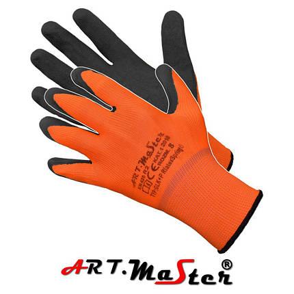 Перчатки RLatex Spring O защитные, изготовленные из полиэстера, покрытые латексом ARTMAS POLAND, фото 2