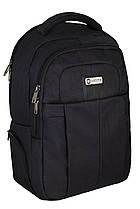 Молодежный городской рюкзак Optima 17'' USB-пор черный (O97466)