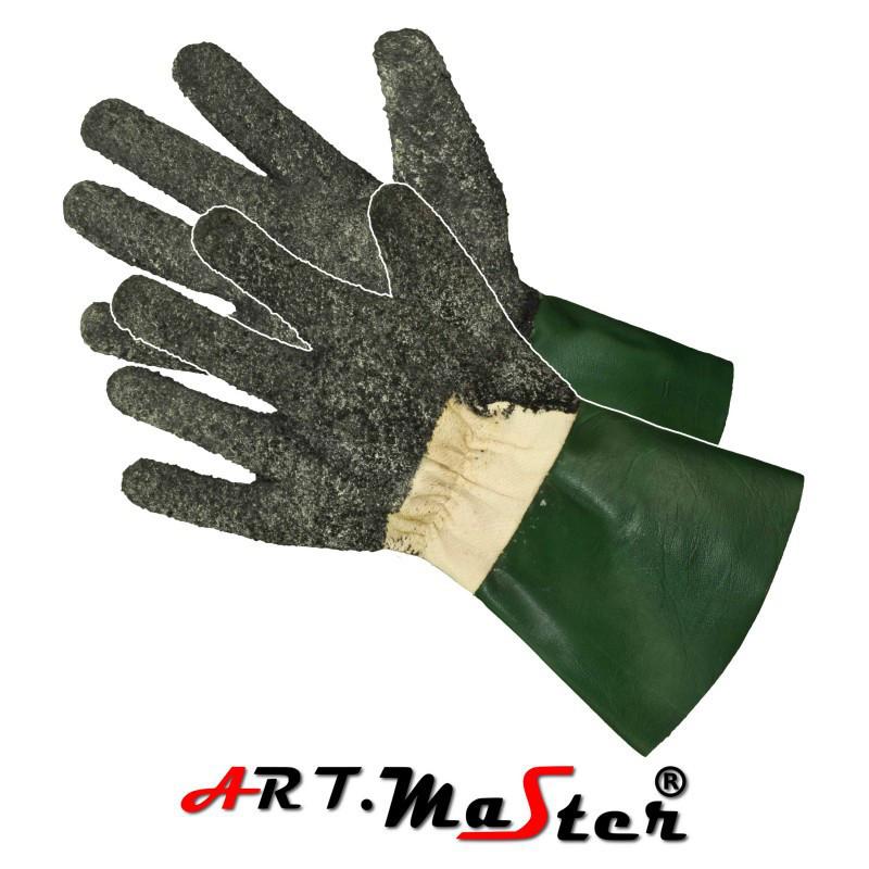 Перчатки Rżaby латексные посыпанные резиновым порошком ARTMAS POLAND