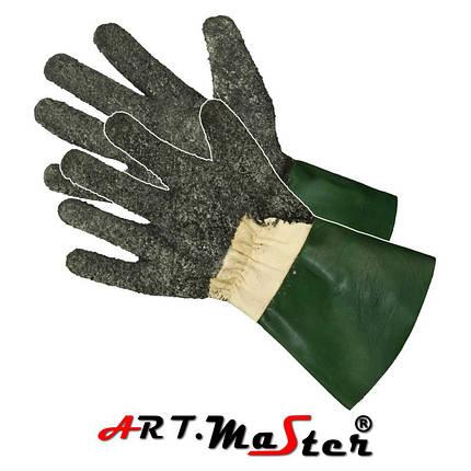 Перчатки Rżaby латексные посыпанные резиновым порошком ARTMAS POLAND, фото 2
