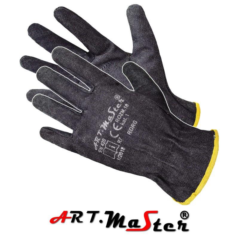 Защитные тиковые рукавицы RdrG с резинкой ARTMAS - POLAND