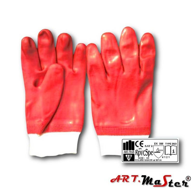 Защитные рукавицы RPVCsP изготовленные из ПВХ и заканчивающиеся резинкой ARTMAS