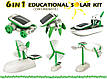 Игрушка-конструктор для ребенка Solar Robot 6 в 1 CARDBOARD CASE на солнечной батарее Green energy + наушники, фото 7