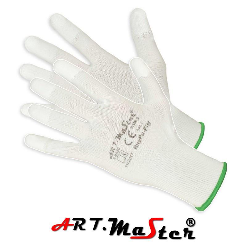 Защитные рукавицы RnyPu-FIN с покрытием окончания пальцев ARTMAS