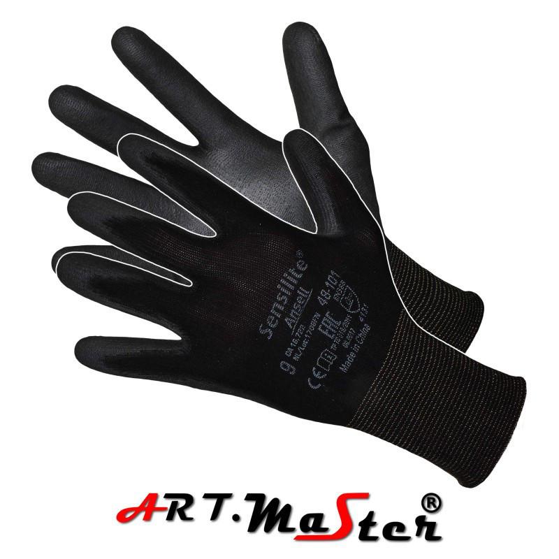 Защитные перчатки ANSELL SENSILITE  из нейлона с полиуретановым покрытием ARTMAS