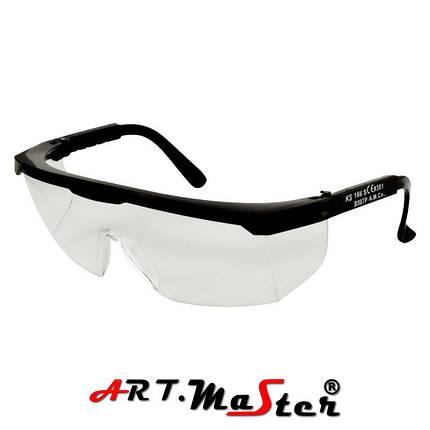 Противоосколочные защитные очки B507p c прозрачной линзой ARTMAS, фото 2