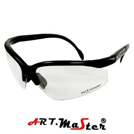 Противоосколочные защитные очки B306p с прозрачной линзой ARTMAS, фото 2