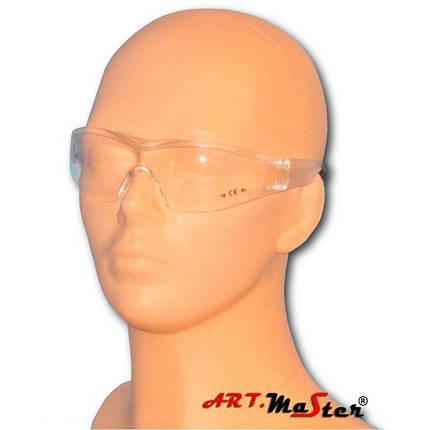 Очки защитные противоосколочные B360 с прозрачной линзой ARTMAS, фото 2