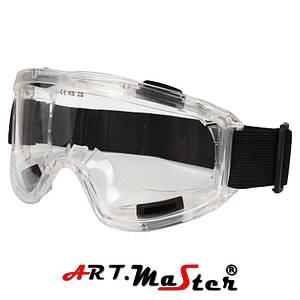 Закрытые защитные очки с прозрачной линзой GB028 ARTMAS
