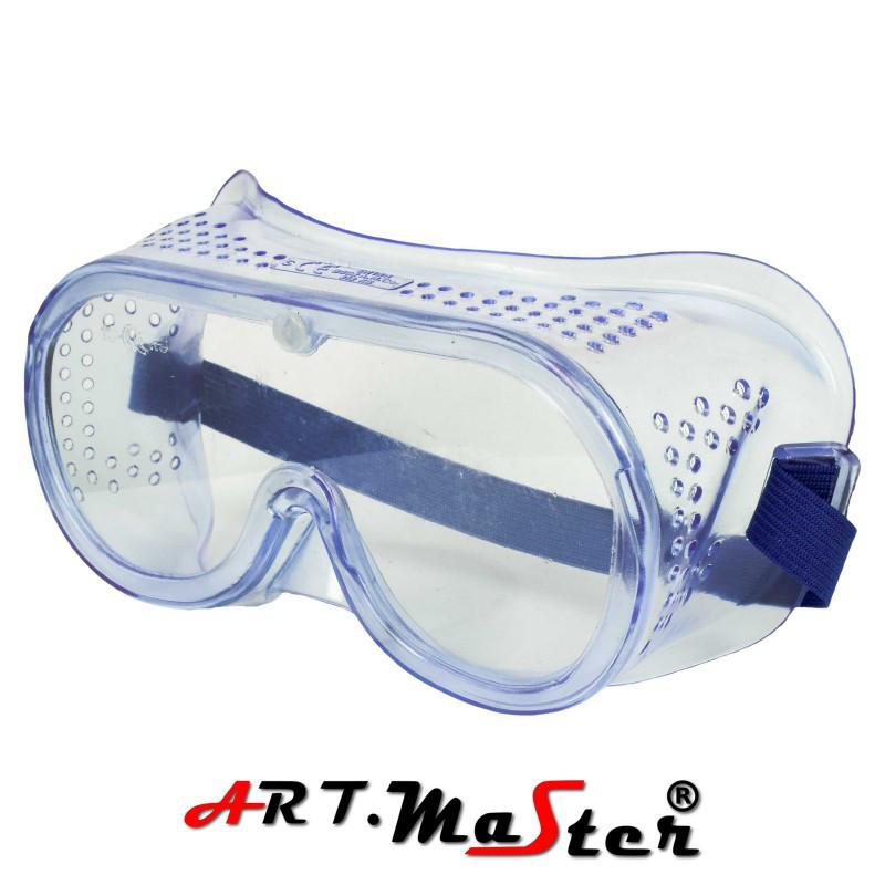 Противоосколочные закрытые защитные очки с прозрачной линзой B602 ARTMAS