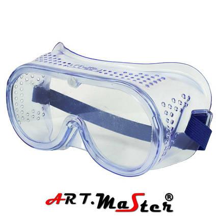 Противоосколочные закрытые защитные очки с прозрачной линзой B602 ARTMAS, фото 2