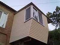 Облицовка балконов сайдингом снаружи, фото 1