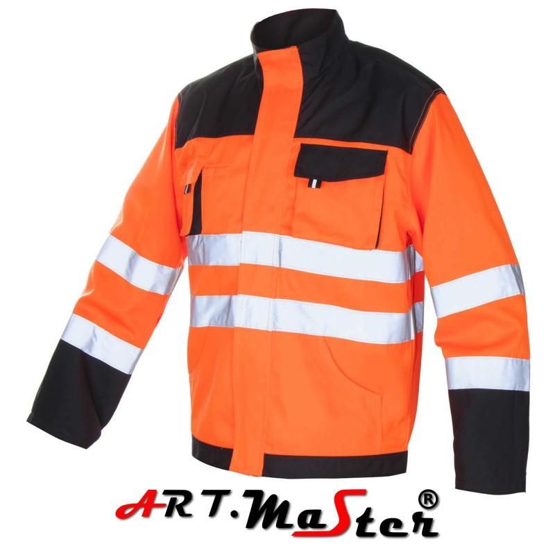 Куртка рабочая со светоотражающими полосами Kurtka FLASH Orange оранжевого цвета ARTMAS