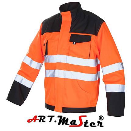 Куртка рабочая со светоотражающими полосами Kurtka FLASH Orange оранжевого цвета ARTMAS, фото 2