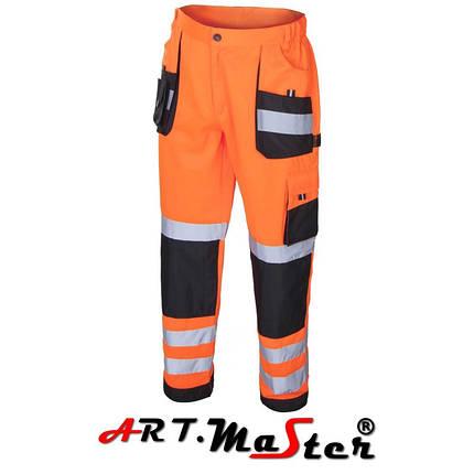 Штаны со светоотражающими полосами Ostrz.Spod.Pas Flash Orange оранжевого цвета  ARTMAS, фото 2
