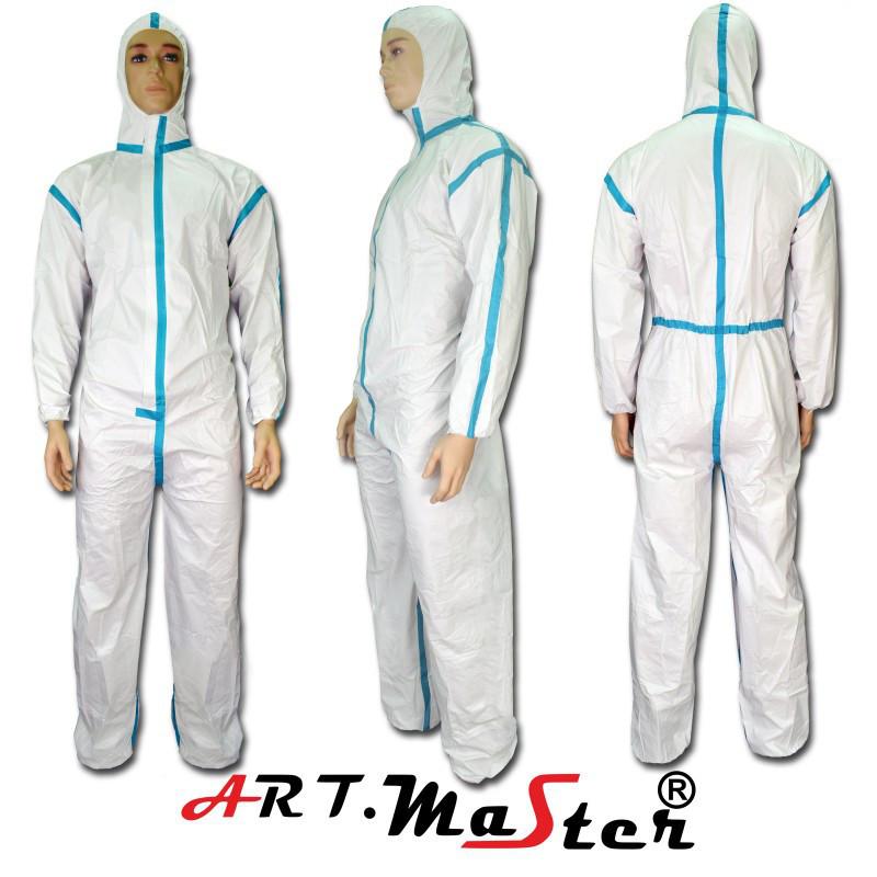 Защитный комбинезон COVE Micro typ 4 белого цвета ARTMAS