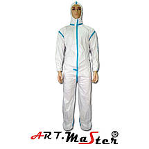 Защитный комбинезон COVE Micro typ 4 белого цвета ARTMAS, фото 2