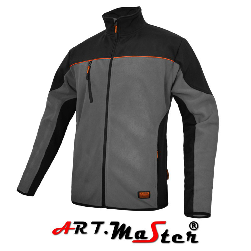 Куртка зимняя CLASPRO Kurtka polarowa grey cерого цвета ARTMAS