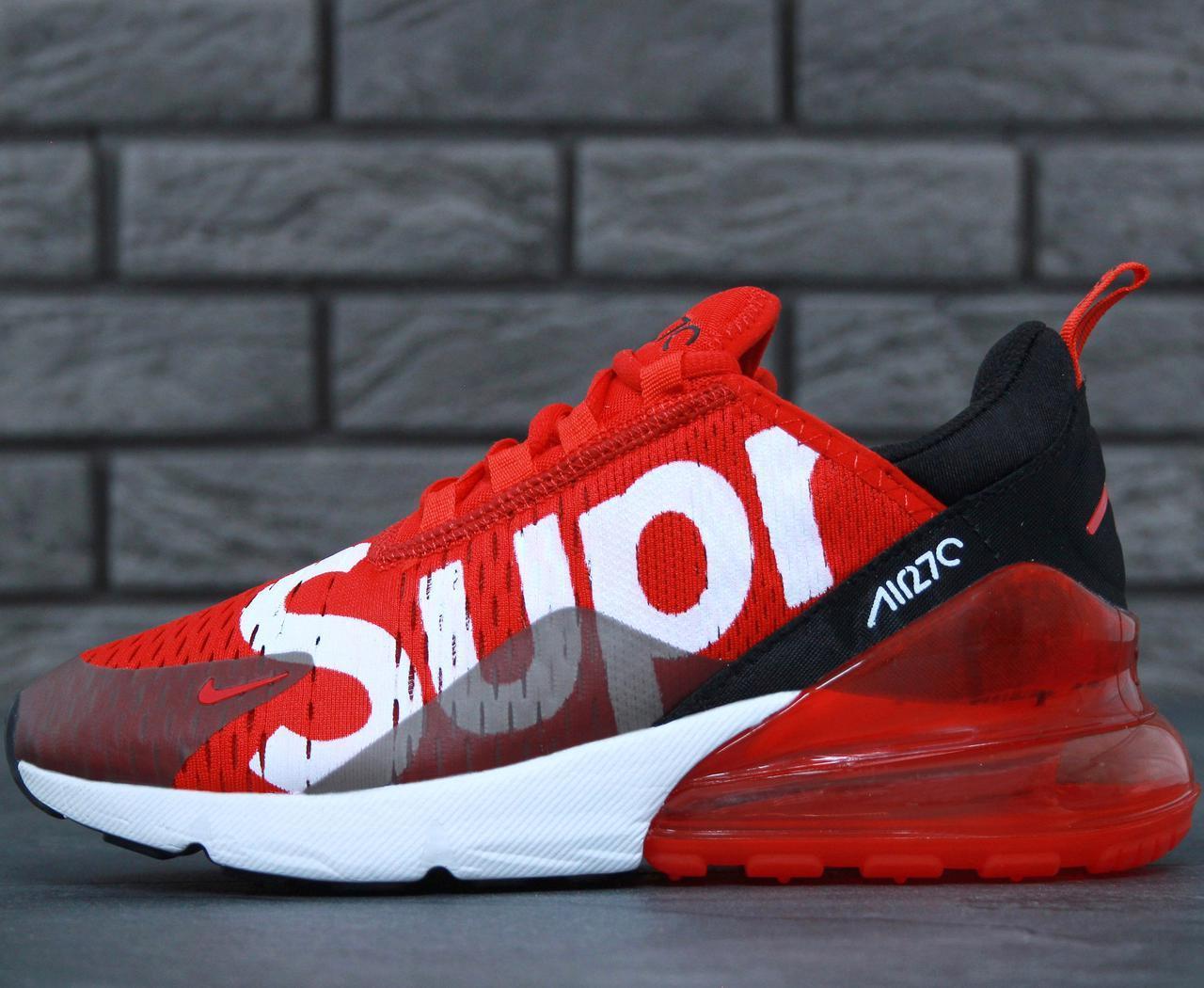 879dc0c9 Мужские кроссовки Nike Air Max 270 Red Supreme, Найк Аир Макс 270 Красные