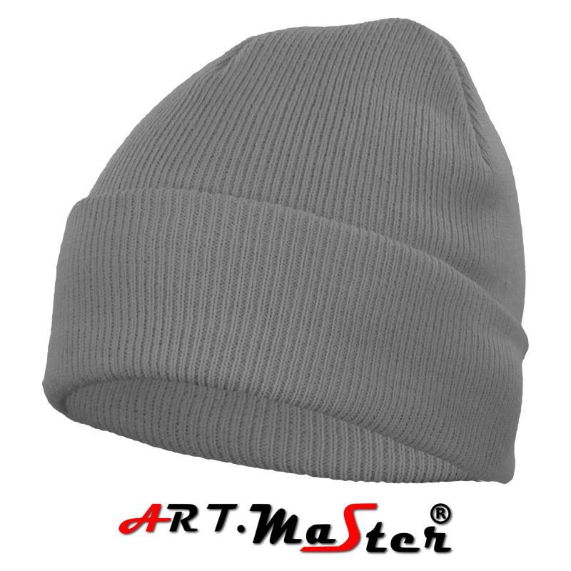 Шапка зимняя CZdz - szara серого цвета ARTMAS